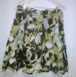 The Limited pleated floral short skirt